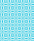 Sky Blue Colors Geometry Pattern. Korean traditional Pattern Des Stock Photos