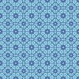 Sky Blue Colors Round grid Pattern. Korean traditional Pattern D Stock Photography