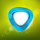 Sky blue curve sticker at green colors background Royalty Free Stock Images