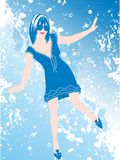 Sky blue dance Stock Photo
