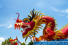 Sky blue and dragon. Royalty Free Stock Image