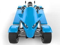 Sky blue electric quad bike front view closeup shot Royalty Free Stock Photography