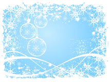 A sky blue grunge christmas scene Stock Images