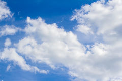 Sky. Blue sky with legmi, white clouds on a sunny day Royalty Free Stock Photos