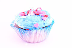 Sky-blue muffin Royalty Free Stock Images