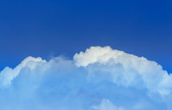 Sky. Blue neon clouds in sky Stock Photography