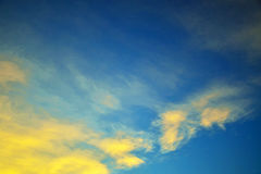 Sky blue and orange Stock Images