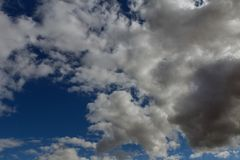 Sky blue sky background with clouds Royalty Free Stock Photography