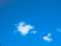 Sky and blue sky color and white clouds in sun shine Royalty Free Stock Images