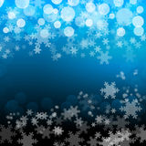 Sky Blue Snowflakes Background Royalty Free Stock Photography