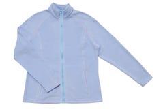 Sky-blue sports jacket stock images