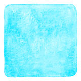 Sky blue square watercolor fill with rounded corners Stock Images