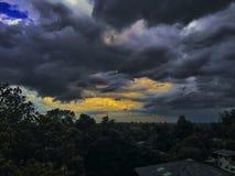 Sky. Blue storm Stock Photo