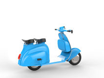 Sky blue stylish scooter. On white background Royalty Free Stock Images