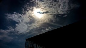 Sky. Blue sun photo stock photography