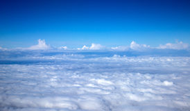 Sky. Blue sky view above the clouds Stock Photos