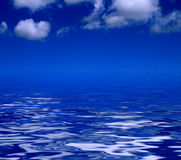 Sky and blue water Stock Photo