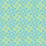 Sky Blue wave curve Pattern. Korean traditional Pattern is a Pat Royalty Free Stock Photos