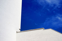 Sky blue white building Stock Photography