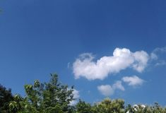 Sky. A Blue sky and white cloud Stock Photos