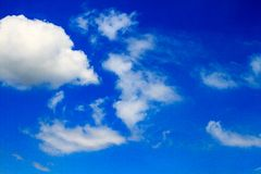 Sky. Blue sky and white clouds Royalty Free Stock Photo