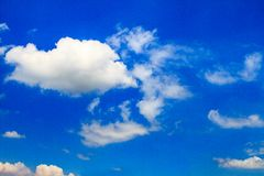Sky. Blue sky and white clouds Royalty Free Stock Photography