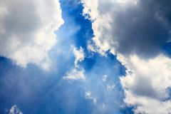 Sky. Blue sky and white clouds Stock Photos