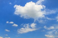Sky. Blue sky and white clouds Royalty Free Stock Images