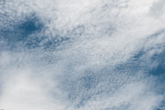 Sky blue white clouds electric wire Royalty Free Stock Photography