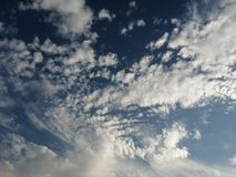 Sky blue white color clouds wallpaper and background royalty free stock photography