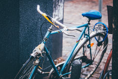 Sky Blue and White Cruiser Bicycle Royalty Free Stock Photos