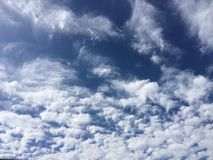 The Sky. Blue Sky and White Puffy Clouds Stock Photos