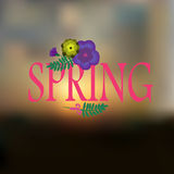 Sky blurred defocused landscape background with text Spring and flowers Stock Photography