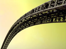 Sky bridge. Bridge from iron face up to sky Royalty Free Stock Photo