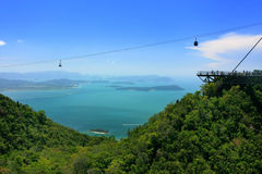 Sky Bridge cable car, Langkawi island, Malaysia Stock Photography