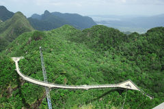 Sky bridge Gunung Mat Chinchang Pulau langkawi Stock Photos