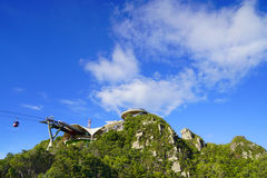Sky Bridge on Langkawi Island. Sky Bridge, wellknown landmark on Langkawi Island, Malaysia, Asia stock photography