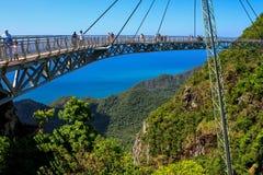 Sky bridge. Bridge in mountains Stock Photos
