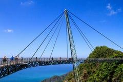Sky bridge. Bridge in mountains Royalty Free Stock Images