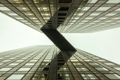 Sky Bridge between Offices building Royalty Free Stock Photos