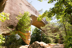 Sky Bridge. Is a sandstone arch in the Red River Gorge geological area Royalty Free Stock Images