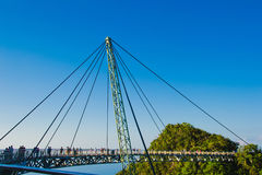 Sky bridge symbol Langkawi island. Adventure holiday. Modern technology. Tourist attraction. Travel concept. Stock Images