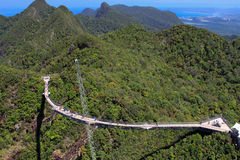 Sky bridge. View in Malaysia, Langkawi Royalty Free Stock Images