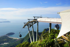 Sky Bridge. Wellknown landmark in Langkawi Island, Malaysia, Asia royalty free stock image
