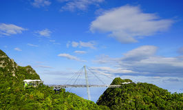 Sky Bridge. Wellknown landmark in Langkawi Island, Malaysia, Asia royalty free stock photos