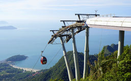 Sky Bridge. Wellknown landmark in Langkawi Island, Malaysia, Asia stock images