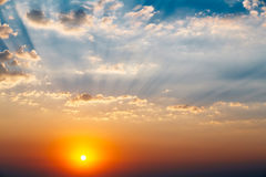 Sky, Bright Blue, Orange And Yellow Colors Sun Stock Photography