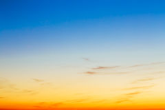 Sky, Bright Blue, Orange And Yellow Colors Sunset Royalty Free Stock Images