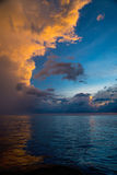 Sky, Bright Blue, Orange And Yellow Colors Sunset Stock Images
