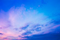 Sky, Bright Blue, Pink And Purple Colors Sunset Royalty Free Stock Photos